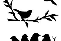 pájaros negros cuadro