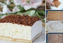 Nepečené řezy, dorty a dezerty