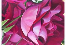Eloise James Artwork / Red an Pink Roses