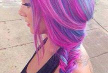 Vlasy - Hair / Vlasy barevných odstínu:) Wild hair.