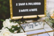 Guest book and card table