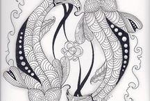 Zentangles and Doodles / I love the creative patterns.  Very inspiring for fillers in my quilting.