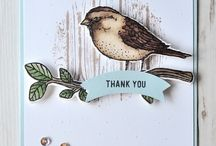 Stampin' Up Best Birds & Birds & Blooms Stamp set