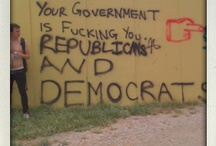 Existential graffiti - thoughts. philosphy and politics on the wall