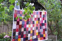 Quilt / Quilt, gemaakt van de baby/kinder kleertjes van m'n dochter.