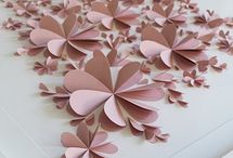 3d flower pic / Paper hearts