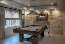 Basement with Pool Table Design