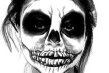 Halloween Makeup and Nails