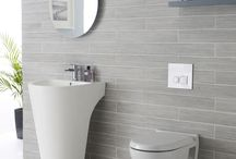 Grey tiles wall bathroom
