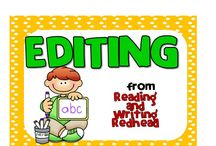 Editing / Editing activities for primary grades