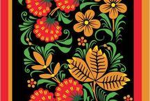 МОТИВЫ  ДЛЯ  РОСПИСИ / Подборка работ, которые могут служить образцами росписи в народном стиле.