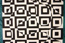 Motifs géométriques street art pop art
