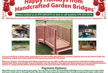 Happy Holidays from www.RedwoodBridges.com Handcrafted Garden Bridges! / Merry Christmas and a Happy New Year! Handcrafted Garden Bridges