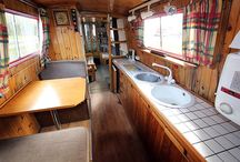 Narrowboat interiors / Narrowboats are all different inside, some are very traditional and some more contamporary, take a look and you'll see what we mean