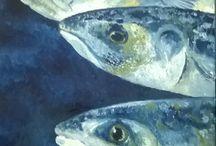 quadri olio pesci