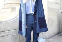 """Denim Redefined / The """"jeans"""" look and feel is long gone from this new denim. What's left is soft, supple structure that holds its own among metallic details and suede, and provides the perfect canvas for unexpected techniques such as draping and engineered fray."""