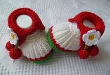 hand knitted/ hand made
