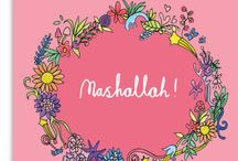 Mashallah Greeting Card / High quality greeting cards, designed and made in England.