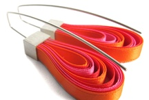 colorfull ribbon earrings