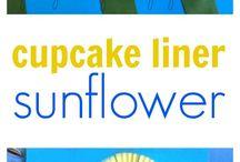 Cupcake liners flowers