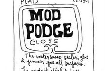 MOD PODGE FORMULAS EXPLAINED.  OK, how have I lived without knowing about this stuff?