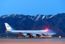 Air Force One Lands in Utah / Photos of the beautiful presidential ride during President's Obama's visit to my home state, April 2-3, 2015.
