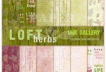 Loft Herbs Inspirace / Inspirace pro tvoření s kolekcí Loft Herbs (UHK Gallery). https://goo.gl/BrnNcc