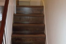 Walnut Stairs / Client: Private Residence In South London Brief: To supply and install wooden stairs