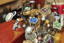 Vintage hat pins/holders / by Beverly Townes