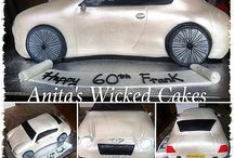 Bentley shaped car cake