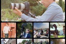 al lavoro / fotografo e videografo