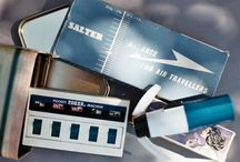 Time to #travelkit / A sweet #tin box, containing extra useful #retro #gadgets for your travels.