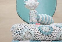 mantas y cojines de crochet