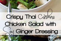 thai cashew chicken salsd