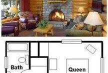 planos casas , cabañas