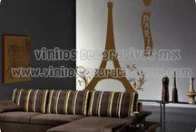 Vinilos de la Torre Eiffel / by Vinilos Decorativos MX Mexico Decoracion de interiores con vinil decorativo