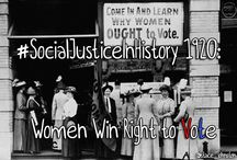 #SocialJusticeInHistory / Revisiting social justice victories throughout history. Follow @stace_johnston on Twitter for more.  #humanrights #equality / by Stacey Johnston