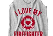 Feuerwehr Frau Shirt
