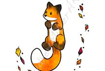 cute fox drawings