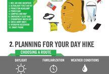 Hiking-kayaking activity