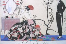 George Barbier - The Illustrator / George Barbier (1882 - 1932) was one of the great French illustrators of the early 20th century. Born in Nantes, France on October 10, 1882, Barbier was 29 years old when he mounted his first exhibition in 1911 and was subsequently swept to the forefront of his profession with commissions to design theatre and ballet costumes, to illustrate books, and to produce haute couture fashion illustrations.  - artophile.com and anillustratorsinspiration.blogspot.com