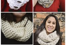 Crochet cowls and scarfs