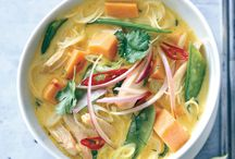 RECIPES Spicy CurrySpicy Noodle Soup with Chicken and Sweet Potato