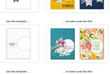 Patterned paper cards