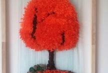 telares decorativos naturaleza / Telares artesanales decorativos.