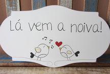 Placas para Dama e Pajem / http://www.elo7.com.br/dacordocom