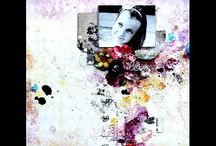 Mixed media scrapbooking tutorial / Collection of inspiring video and photo tutorials on creating mixed media scrapbooking layouts
