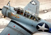 Dauntless + TBD Devastator + Curtiss,SB2C,Helldiver