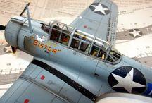 Dauntless + TBD Devastator + Curtiss,SB2C,Helldiver