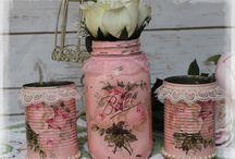 Tin & jar vases